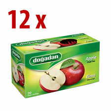 240 Turkish Apple Tea bags (12 box x 20 bags)  Instant Most Famous brand Dogadan