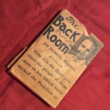 THE BACK ROOM BY JOE (MARKER) MADDEN  1937 SIGNED BY AUTHOR
