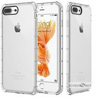 Fits Iphone 6/ 6s / 7 / 8 Plus Case Clear Shockproof Bumper Protective TPU Cover