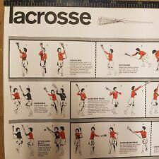 More details for vintage lacrosse poster educational school teaching aids mcm 1968 94 cm x 63 cm