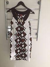 Monsoon UK Designer Women's Summer Cotton Sleeveless Dress With Pockets Size 8