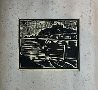 Woodcut 1930 Bratislava #3 Willi Ettrich - Expressive