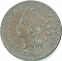1868 Indian Head Penny / Small Cent in SAFLIP® - XF- (VF+++) Details