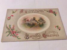 Vintage Paper Ephemera, Postcard, Birthday Greetings