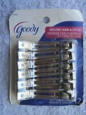12 Goody Metal Sectioning Styling Hair Clips 2009 Section Secure Style Classic