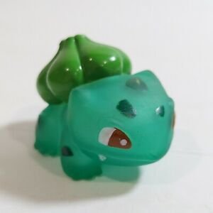 1996 Pokemon Clear Bulbasaur Figure Finger Puppet Catch Them All Nintendo Bandai