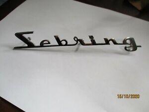 Maserati Sebring Lettering Nameplate Logo