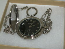Fossil Slim Line Pocket Watch With Chain Men's