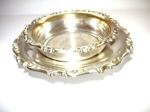 Antique Ornate Silver Plated Tea Strainer and Drip Tray.