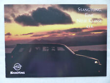 Ssangyong 4x4 programme-MUSSO KJ-prospectus brochure 1995