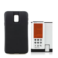 9600mAh Extended Battery + Black Back Cover For Samsung Galaxy Note 4 N9100