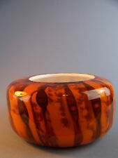 A Whitefriars Studio Art Vase Model S3 - Orange - Rare Scripted Piece Dated 1970