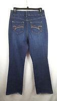 Nine West Womens Jeans Size 10 Dark Blue Straight Leg 30x31