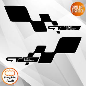 2 x Renault Sport style vinyl stickers decals ZOE Megane SPORT CUP GT Line