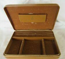 Vintage leather men's jewelry box