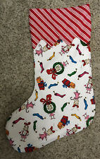 Dr Seuss Christmas Stocking Handmade Large Lined Fabric Sally Who Nice New!