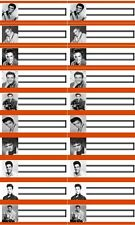 60 titolo strisce Elvis Presley Wurlitzer Seeburg rockola JUKEBOX AMI