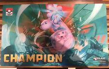Mew & MewTwo CHAMPION Playmat - Pokemon League Cup Winners Mat