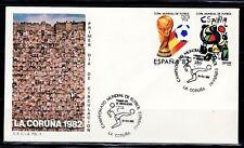 ESPAÑA SOBRE 1º DÍA 1982 LA CORUÑA 2644/45  MUNDIAL FUTBOL ESPAÑA 82