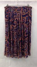 M&Co Blue Jacquard Print Floaty Full Length Skirt Size 20