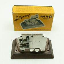 Vintage Hollywood Stainless Steel Film Splicer 8mm-16mm With Box