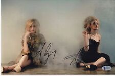 ALY AND AJ SIGNED PHOTO 8X12 MICHALKA AUTOGRAPH SEXY SISTERS FEET BAS COA PSA