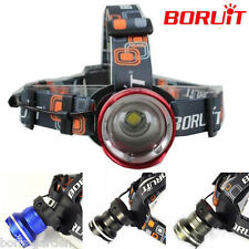 BORUiT 20000LM XML T6 LED Zoomable Headlamp Flashlight Camping Light AA Battery