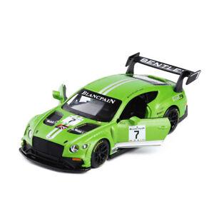 Bentley Continental GT3 Racing Car 1:32 Model Car Diecast Toy Vehicle Green Kids