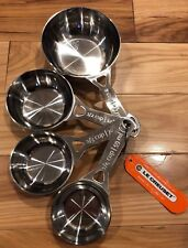 4-Piece LE CREUSET Stainless Steel Measuring Cups NWT Baking Tools Accessories