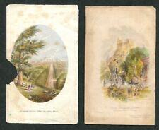 2 Antique George Baxter Prints Surrey Zoological Gardens 1846 & Windsor Castle