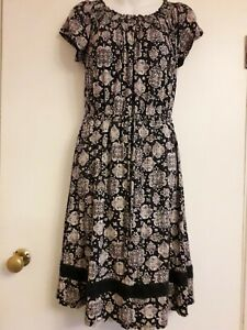 Authentic by Bhs dress size 12 navy stretchy excellent condition