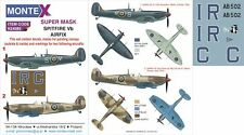 Montex 1/24 masks, nose art and stencils for SPITFIRE Vb by AIRFIX - K24085