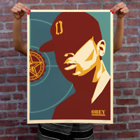 IN HAND * CHUCK D FIGHT THE POWER SIGNED & NUMBERED PRINT POSTER OBEY GIANT