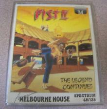 """Vintage Spectrum 48k 1980s Cassette Video Game 4"""" X 5.5"""" Fist II Legend Continue"""