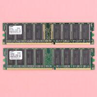 1GB Samsung 2x 512MB DDR DDR-333 PC2700 DDR1 Desktop 184Pin RAM Memory *TESTED *