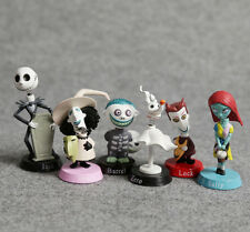 6 The Nightmare Before Christmas Jack Sally Bobblehead Action Figure Cake Topper