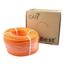 CAT.7 Verlegekabel 50m Netzwerkkabel BEST Gigabit KUPFER  S/FTP LAN 1000Mhz VDSL