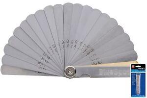 BlueSpot 32 Blade Leaf Feeler Gauge Metric Imperial Includes Brass Blade