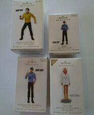 Star Trek Hallmark Ornament lot Spock captain Kirk Dr. Leonard McCoy Ilia Probe