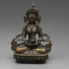 Chinese Tibet Tibetan Buddhism Bodhisattva Vajrasattva Buddha Bronze Statue