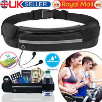Unisex Running Bum Bag Belt Sport Jogging Key Mobile Money Waist Travel Pouch UK