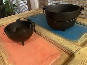 Cast Iron Caldrons LOT of 2