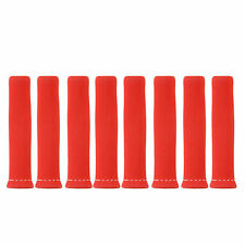 SET OF 8 X SPARK PLUG LEAD HEAT SHEILDS RED COLOR