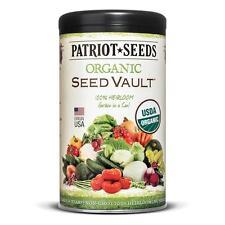 Patriot Seeds Organic Seed Vault Survival Kit - Non-GMO - 100% Heirloom