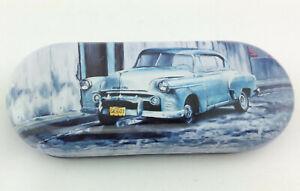 "Brillenetui Etui  "" Cuba Classics Car "" leicht wunderschön Metallbox  Oldtimer"