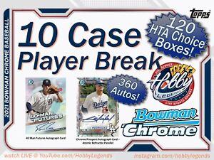 Justin Martinez DBACKS 2021 Bowman Chrome HTA 10 Case (120 Box) Player Break