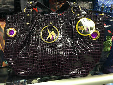 BETTY BOOP PURPLE CROC LONG HANDBAG SHOPPING BAG PU