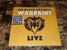 Black Crowes Rare Warpaint Live Yellow Colored Vinyl Record Chris Rich Robinson