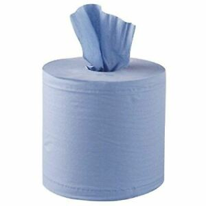 Jantex Centrefeed Blue Roll Paper Towels Pack of 6 | Kitchen, Commercial