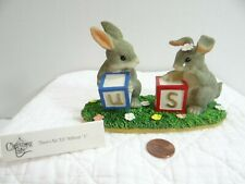 Charming Tails There's No Us Without U Rabbit Figurine Blocks 89/703
